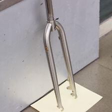 """TSUNAMI Chromoly Steel 27.5"""" MTB Rigid Fork 1 1/8"""" 28.6mm Disc Brake Silver"""