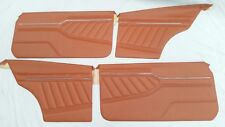 MAZDA 10A 12A RX3 808 COUPE ORANGE VINYL DOOR TRIMS WITH BACKINGS & CLIPS