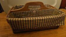 Longaberger 2006 Carry - N - Caddy Basket, Liner & Protectors, dark wash basket