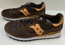 Saucony Shadow Original Classic Retro Brown & Orange Suede Shoes