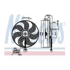 Fits VW Golf MK4 3.2 R32 4motion Nissens Engine Cooling Left Radiator Fan