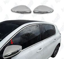 PEUGEOT 308 2014UP Chrome Wing Mirror Cover 2Pcs S.Steel