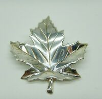 Maple Leaf Brooch Sterling Silver 925 Great Condition Vintage Jewellery
