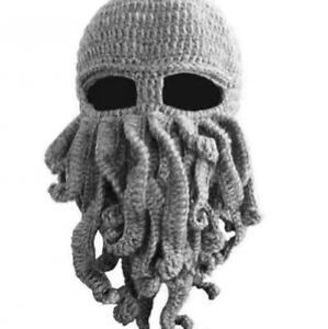 Octopus Hat Unisex Barbarian Beard Beanie Cap Windproof Ski Mask Winter Warm