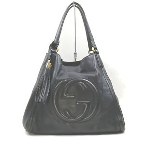 Gucci Tote Bag Soho Black Calf 1905107