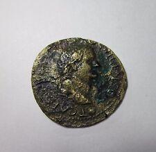 TITUS, AS CAESAR. AE AS, LUGDUNUM MINT, C. 77-78 AD. PAX REVERSE. RARE.