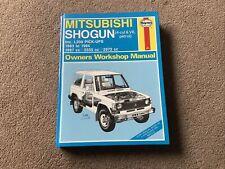 Haynes Manual Mitsubishi Shogun 1983 To 1994 (4-cyl & V6 Petrol)