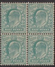 Kappysstamps Id7770 Great Britain 127b Bk/4 Mint Nh Never Hinged