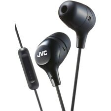 JVC Marshmallow Black Stereo Memory Foam Earbuds with Remote and Microphone