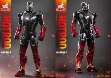 Hot Toys Marvel Iron Man 3 Iron Man Mark Xxii 22 Hot Rod 1/6 Scale Figure Misb