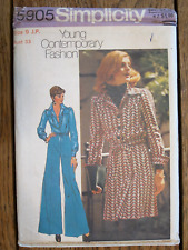 Vintage Sewing Pattern Simplicity #5905 Junior Petite Pants Top Skirt Sz 9 Uncut