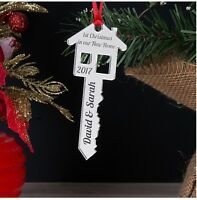 Personalised First 1st Christmas In Our Your New Home Key Tree Decoration Bauble