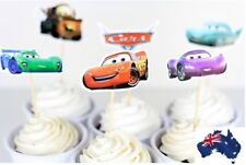 12 X DISNEY CARS cupcake Jelly Cup toppers Fruit picks Birthday Party Fun Cute