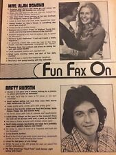 Alan Osmond, Osmonds Brothers, Brett Hudson, Full Page Vintage Clipping