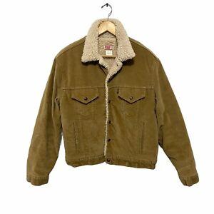 Vintage Levi's Corduroy Sherpa Jacket Size 44 70608 9023