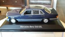 Minichamps MERCEDES-BENZ 560SEL W126 rare NAVY BLUE 1:43 MINT BOXED promo
