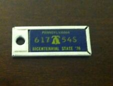 1976 PENNSYLVANIA Mini License Plate D.A.V. Key Chain Fob (617 54S)