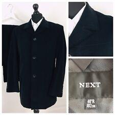 Next Mens Suit 44R 32W 31L Black Velvet Single Breasted Formal Occasion  YE377