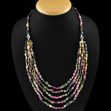 AWESOME TOP DEMANDED 262.80 CTS NATURAL WATERMELON TOURMALINE BEADS NECKLACE