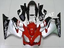 Fit for CBR600 F4i 2004-2007 Red Silver Black ABS Injection Bodywork Fairing Kit