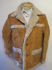 "Vintage Schott RANCHER Western Shearling Leather Jacket L 40-42"" Euro 50-52"