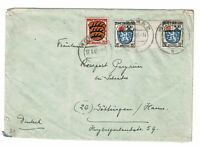 Germany 1947 France Zone Gutter Pair on Cover (Folded) - Z625