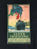 LLOYD TRIESTINO Ocean Liner ART DECO LITHOGRAPH Timetable BROCHURE BOOK, 1935