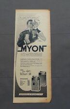 PUB PUBLICITE ANCIENNE ADVERT CLIPPING 220517 / BRIQUET FONCTIONNANT AU GAZ MYON