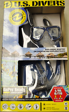 U.S. Divers Adult Silicone Snorkel Set w/ Travel Bag [Aqua Lung Flippers Mask]