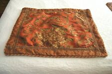 Rust, Gold, Tan, Brown Floral Standard Pillow Shams--2