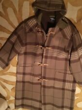 Men's Ralph Lauren Polo Classic Tartan Plaid Wool Toggle Coat Sz. L