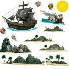 Pirate Ship & Island Props Room Scene Pirate Birthday Party Wall Decoration
