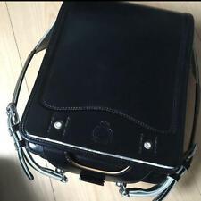 Used Japanese School Bag Randoseru Mikihouse Backpack Black Boy Kids Cosplay