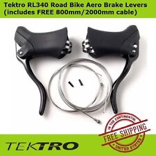 Tektro RL340 Aero Brake Black Lever (Pair)+FREE 800mm/2000mm cable for Road Bike