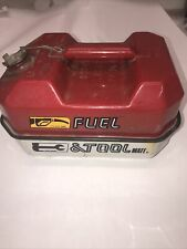 Vintage Blitz Fuel And Tool Chainsaw 15 Gallon Gas Fuel Can Tool Box Chainsaw