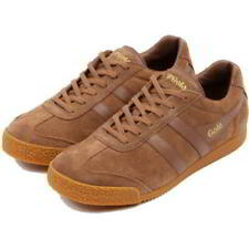 Gola Harrier Classics Mens Brown Tobacco Suede Sneakers Trainers Shoes Size 8-11