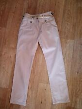 Girls Age 11 NEXT Cotton Trousers With Belt... Free P&P!!