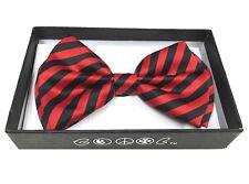 Red Zebra Pattern Men Women Bowtie  Clip-On Neck-wear Tuxedo