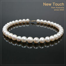 necklace with 14K clasp Aa+ grade 11~13mm white pearl