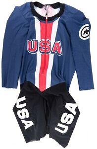 Assos Team USA Speedfire 3/4 Sleeve Skinsuit Men MEDIUM Olympic Track Road Bike