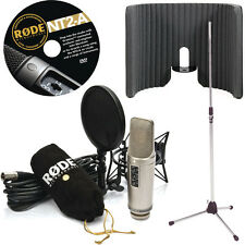 Rode NT2-A Microphone with Primacoustic VoxGuard and Tripod Mic Stand