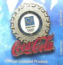 ATHENS 2004 OLYMPIC LAPEL PIN COCA-COLA BOTTLE CAP NEW