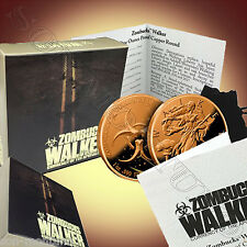Zombucks WALKER PROOF Copper Zombie Walking Liberty USA Silver Eagle Coin Design