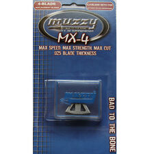 Muzzy Replacement Blades 6 4-blade for 209-MX4-3 #30904 309-MX4 Broadhead
