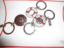 NEW Coach Life Preserver Valet Key Fob Keychain Keyfob 92902 Nautical Boat