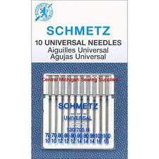 Schmetz Sewing Machine Needles 15x1 Size 10, 12, 14, 16 Fits Singer Kenmore