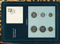 Coin Sets of All Nations Jamaica 1986-1989 UNC Manley stamp 50 cent 1987