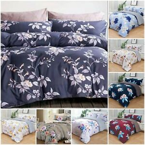 Luxury Floral Duvet Quilt Cover Bedding Set with Pillowcase Fitted Sheet AllSize