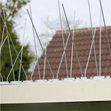 10 Pack - 10cm x 50cm Stainless Steel Anti Bird Pigeon Spikes Deterrent Preventi