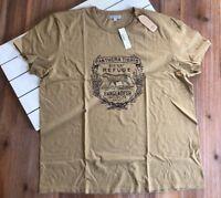 NWT J Crew Men's Wallace & Barnes Tiger Graphic Tubular T Shirt - British Khaki